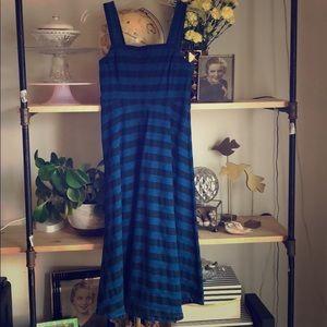 Tracy Reese Denim Strip Dress
